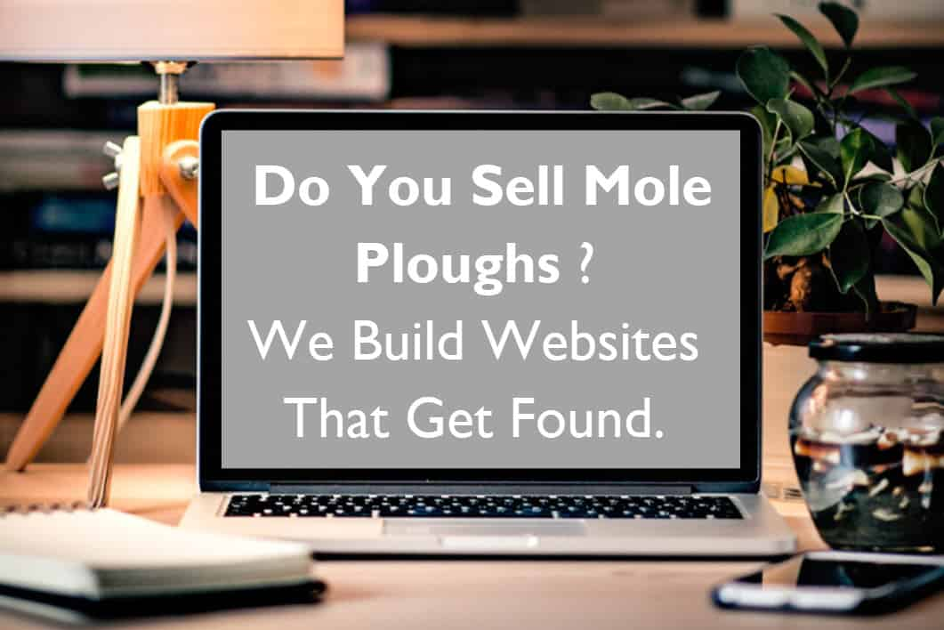 we design and build websites to sell mole plough - web design peterborough Blue Dolphin