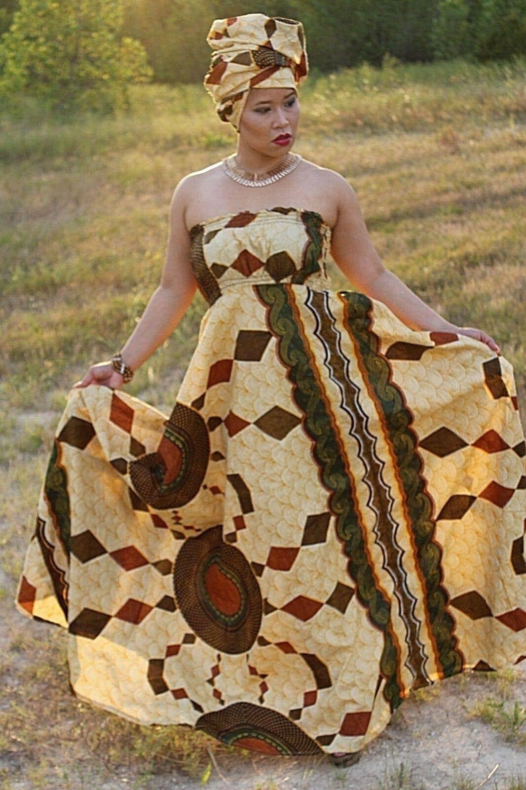 African print dress from ebay by Oludan designs