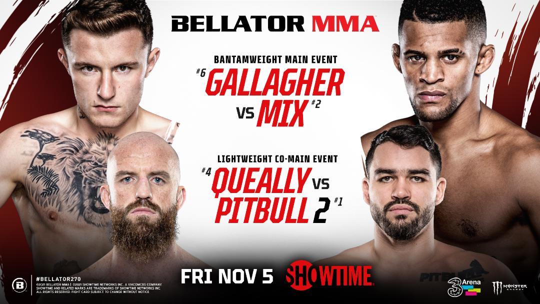 Bellator MMA Gallagher vs Mix - Queally vs Pitbul - MMA Fight Coverage