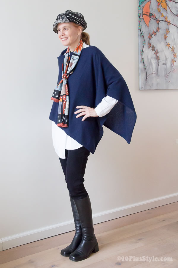 How to wear a poncho or cape