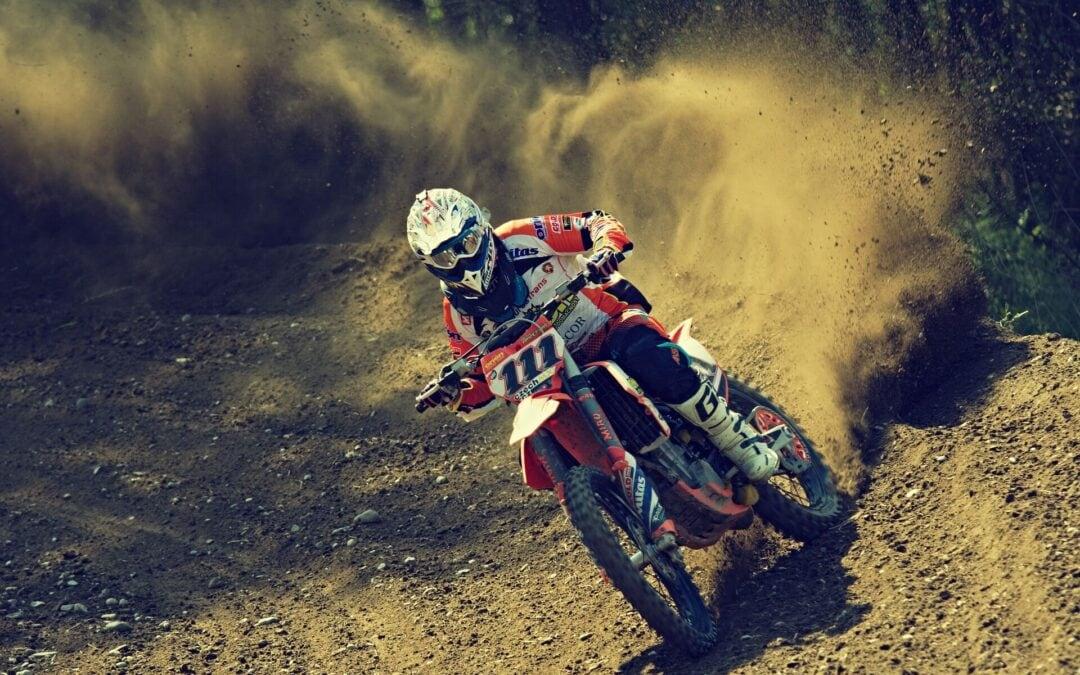 Riding dirt bike like a pro