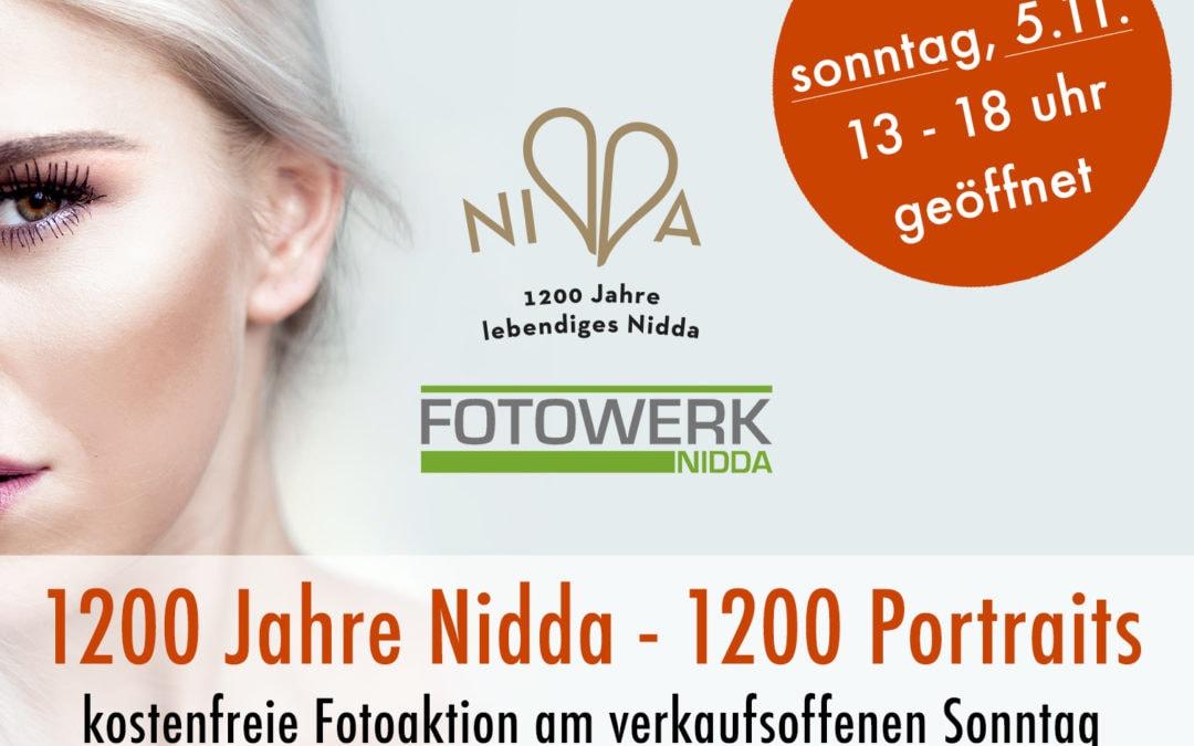 1200 Portraits Fotoaktion und verkaufsoffener Sonntag