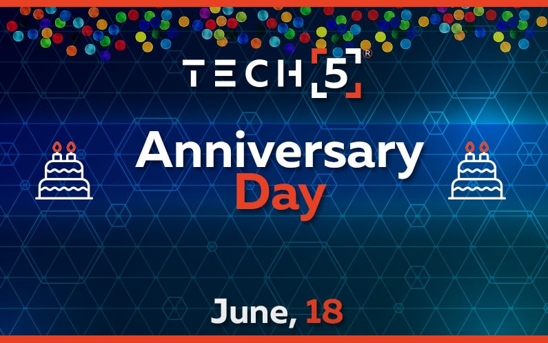 Another Year of Success. TECH5 Celebrates its Third Anniversary.