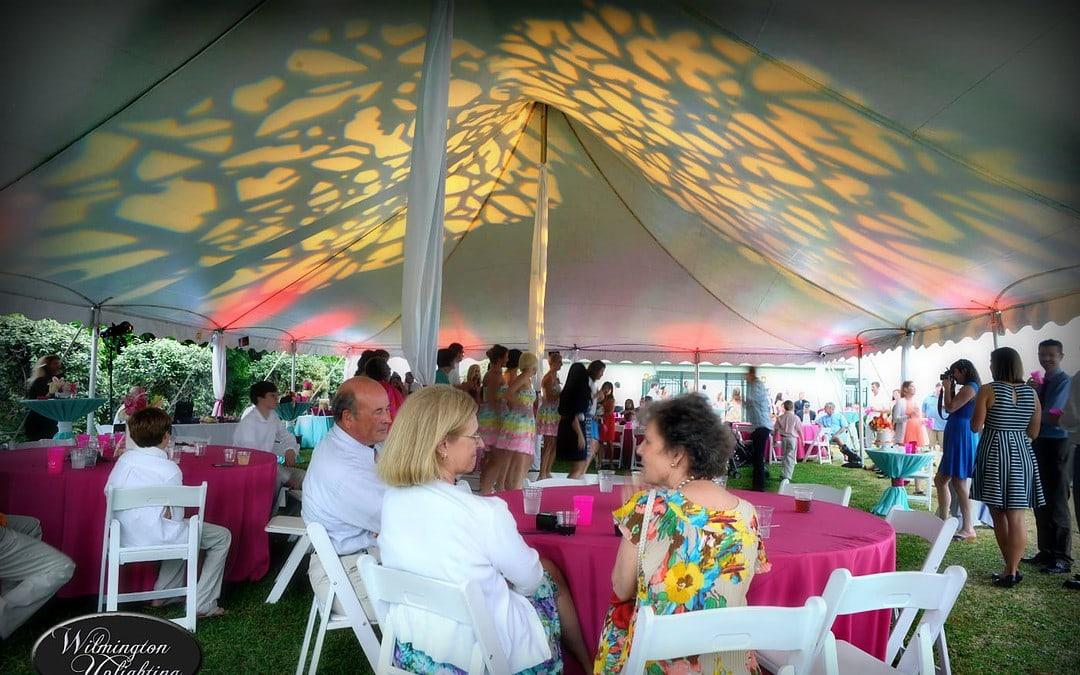 Rebecca & Josh Outdoor Tent Reception at The Tides Marina