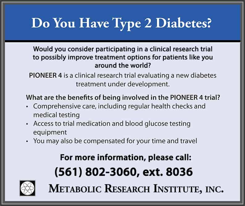 Type 2 Diabetes Clinical Trial Closing Enrollment Soon!
