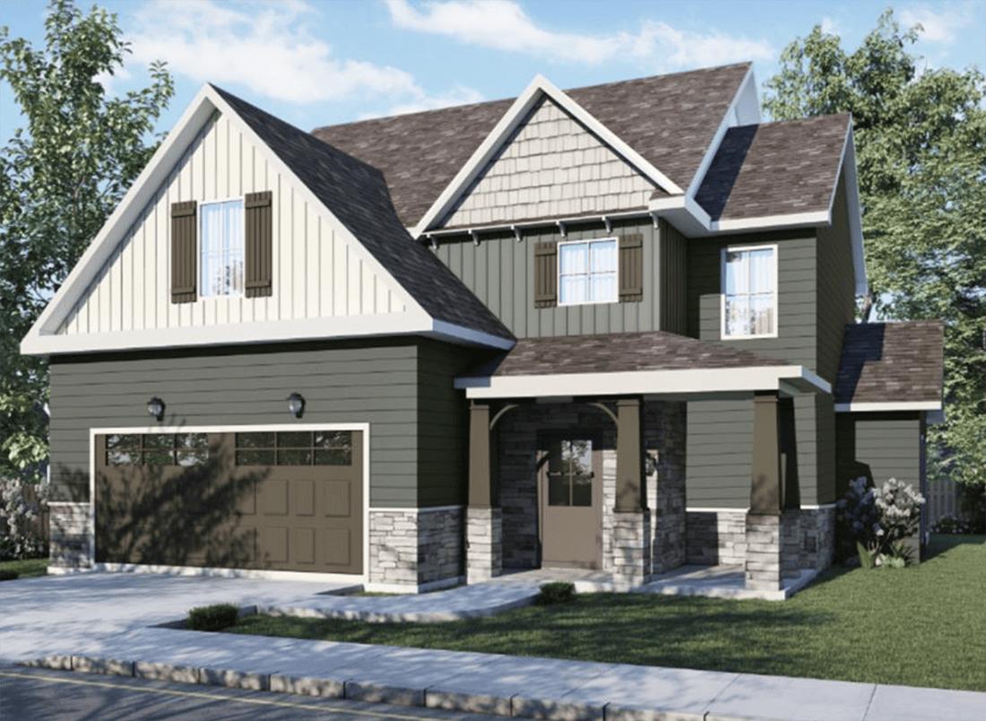 The Glenwood Exterior Design Rendering