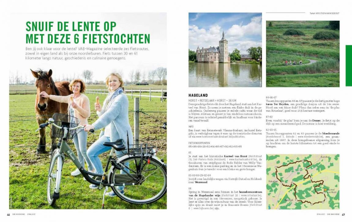 6 fietstochten in België en Nederland