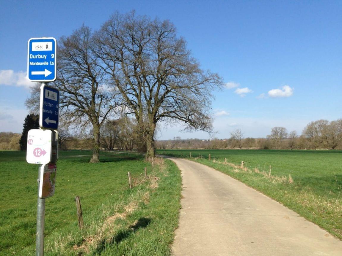 Het fietsknooppuntennetwerk in de Pays de Famenne