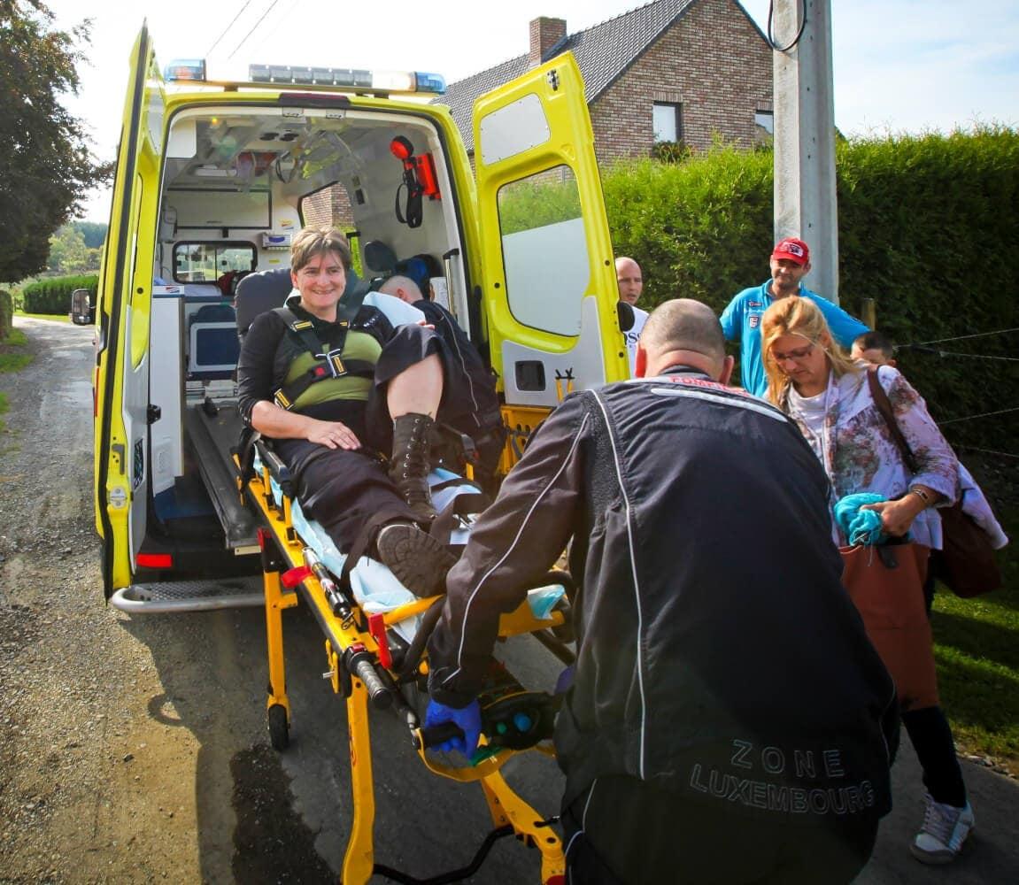 in de ambulance