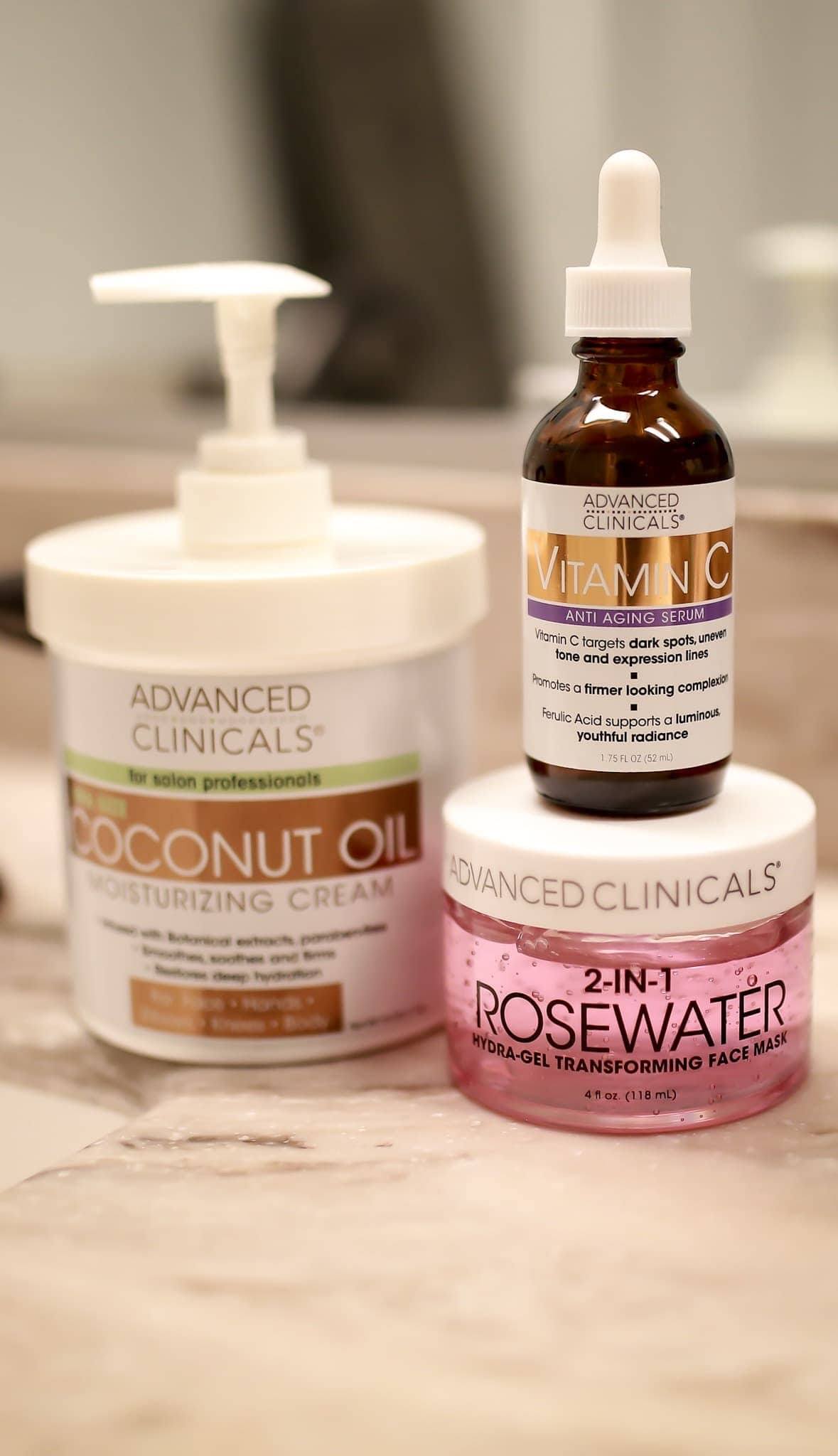 #vitamincserum #coconutoilskincare You've heard great things about this local brand but have you read the Advanced Clinicals Reviews? I put the vitamin c serum, coconut oil cream and rosewater mask to the test. Here's what I found out! #facemaskforwrinkles