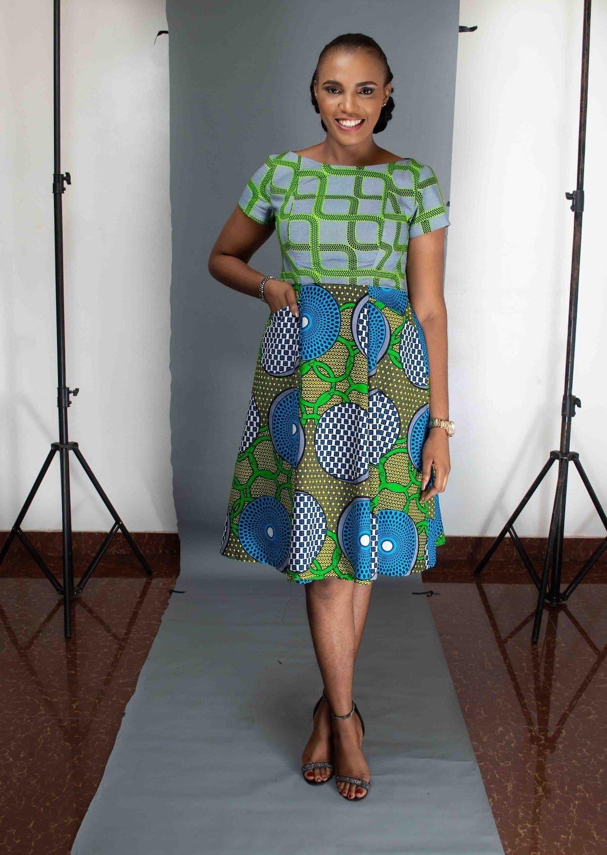 The Odion ankara dress