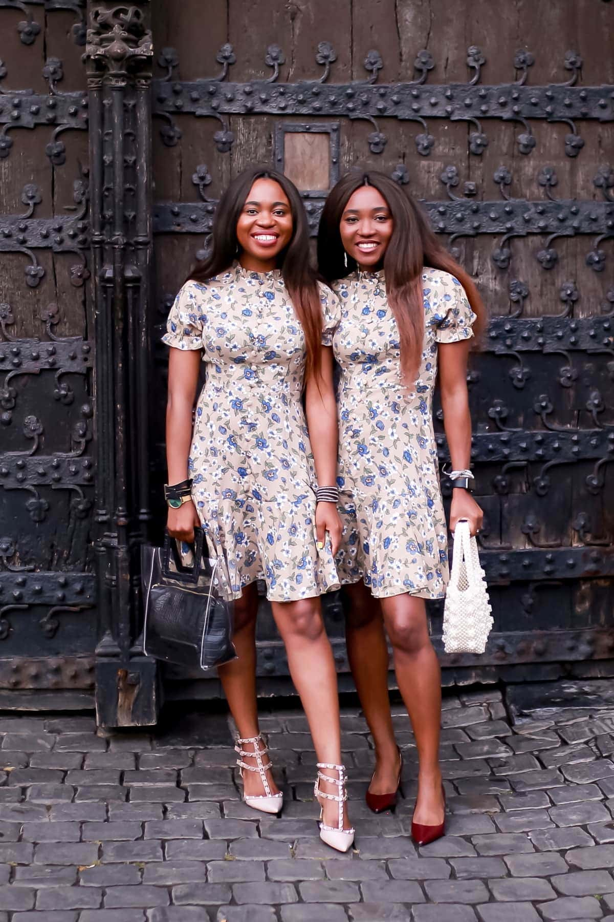 Summer fashion in floral midi dress. Practical everyday style for women on a budget