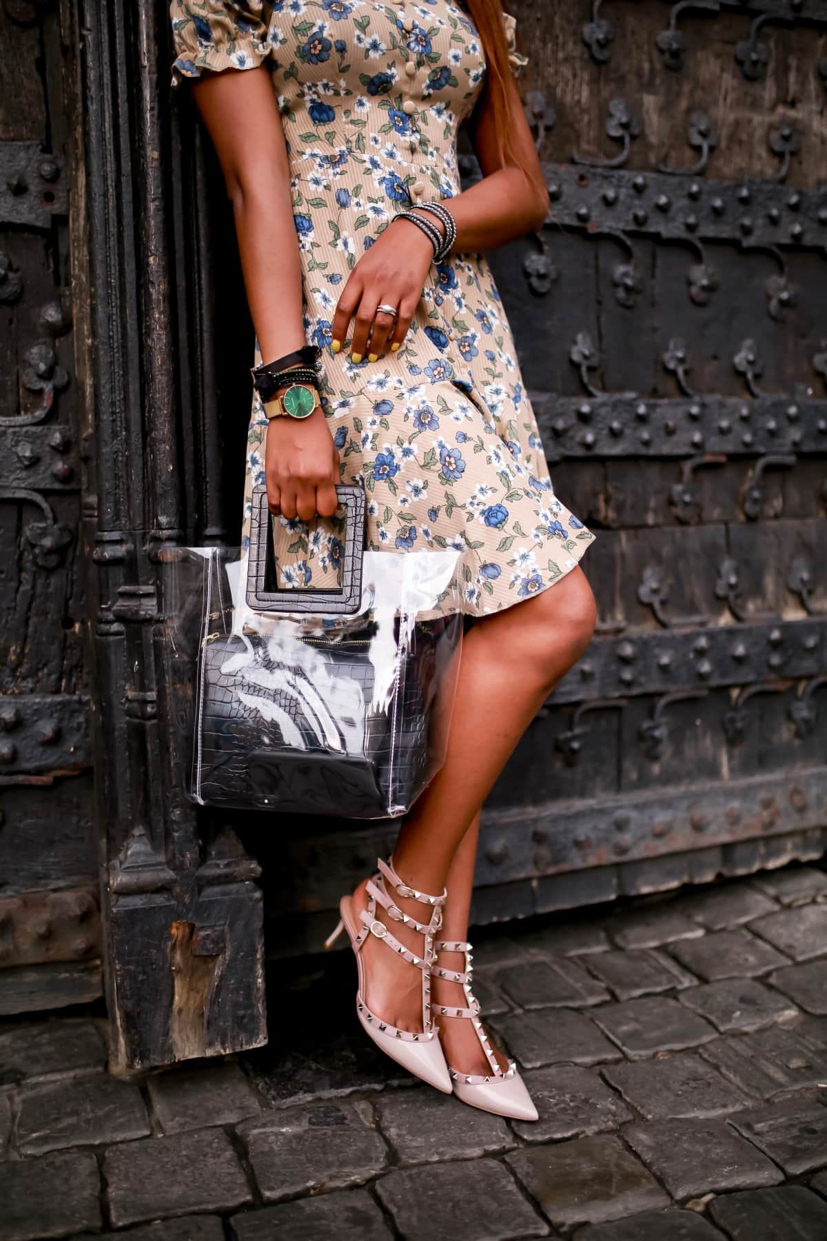 Summer outfit with Victoria Emerson sunburst watch collection