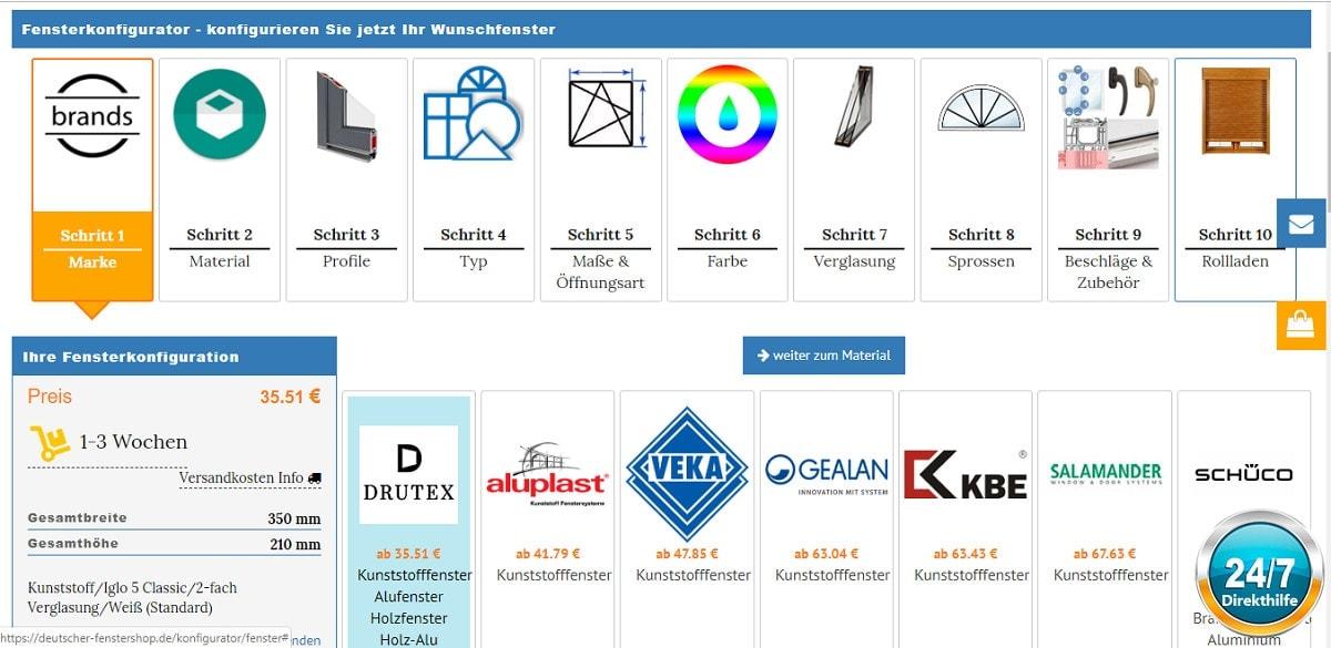 itsline fensterkonfigirator objectCode GmbH
