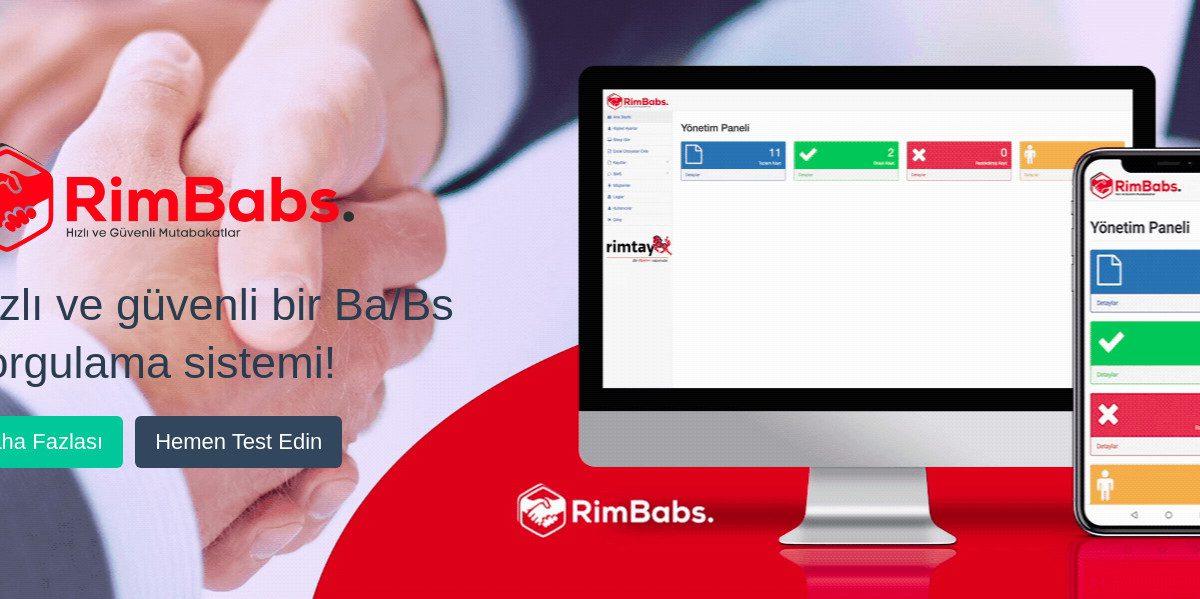 RimBabs – Hızlı ve Güvenli Ba/Bs Mutabakatları