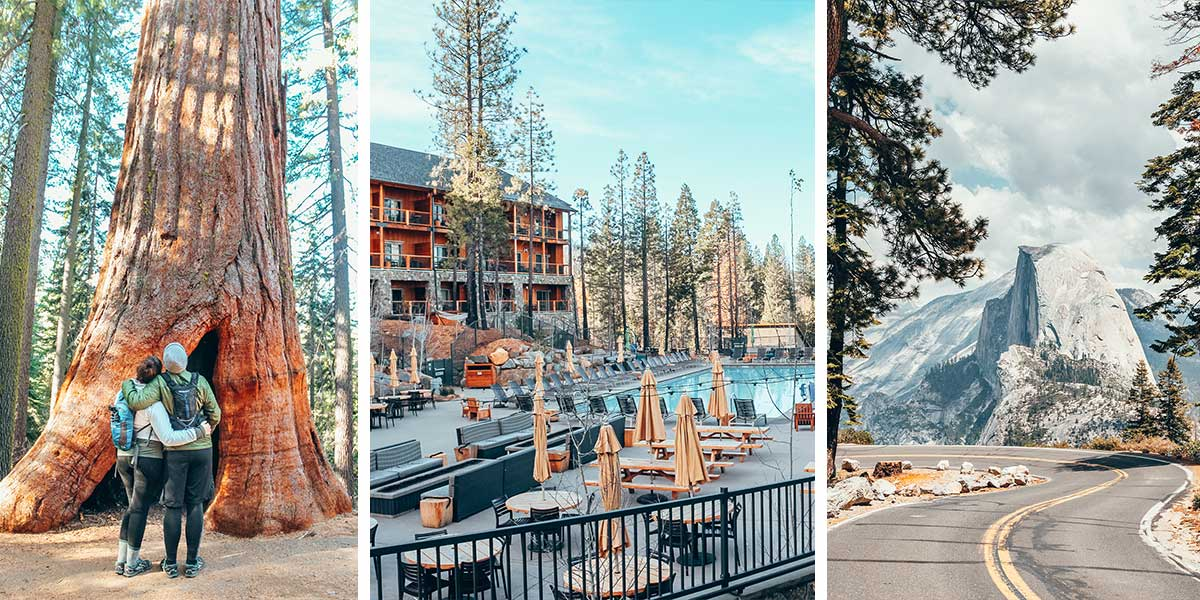 Yosemite National Park is one of the most popular US National Parks. But it's HARD to find a place to stay in Yosemite National Park! So, here are our recommendations for where to stay near Yosemite NP by park entrance, and our favorite lodge near Yosemite National Park.