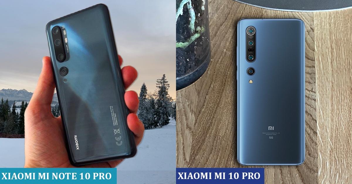 Xiaomi Mi Note 10 PRO vs Mi 10 PRO