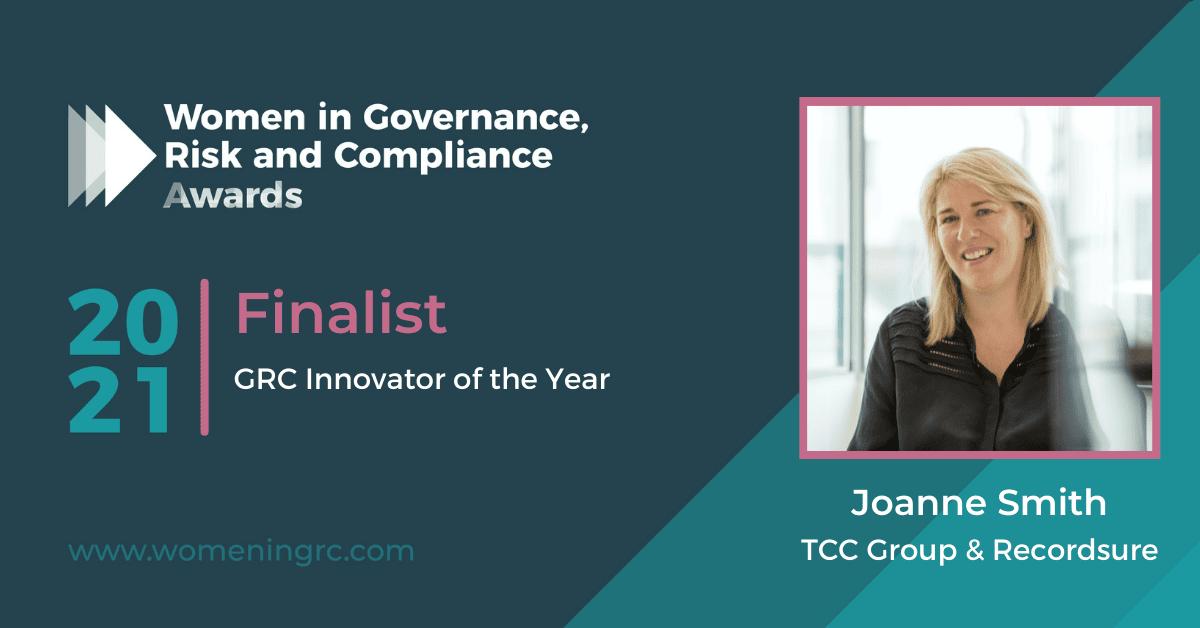 Joanne Smith Recordsure - GRC Innovator of the Year 2021