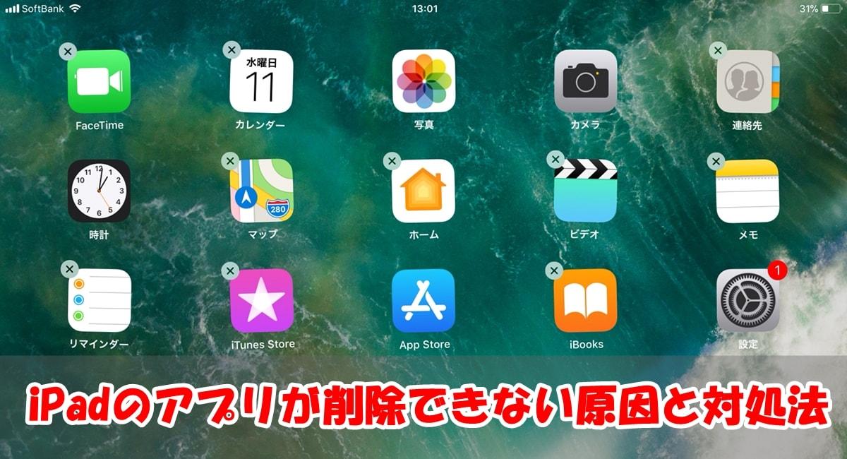 iPadのアプリが削除できない原因と対処法まとめ