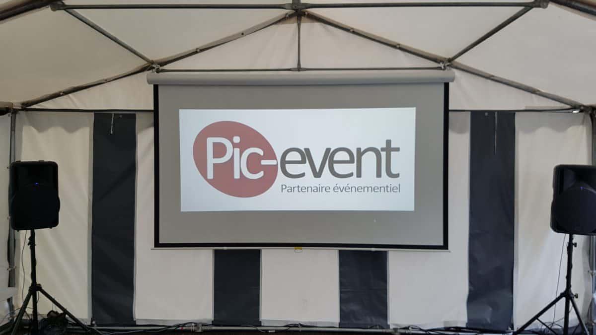 Pic-Event Location Ecran Video Projection Manuel 280cm