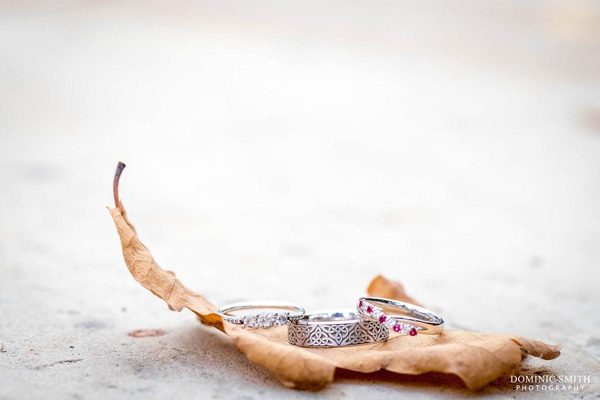 Autumnal Wedding Rings