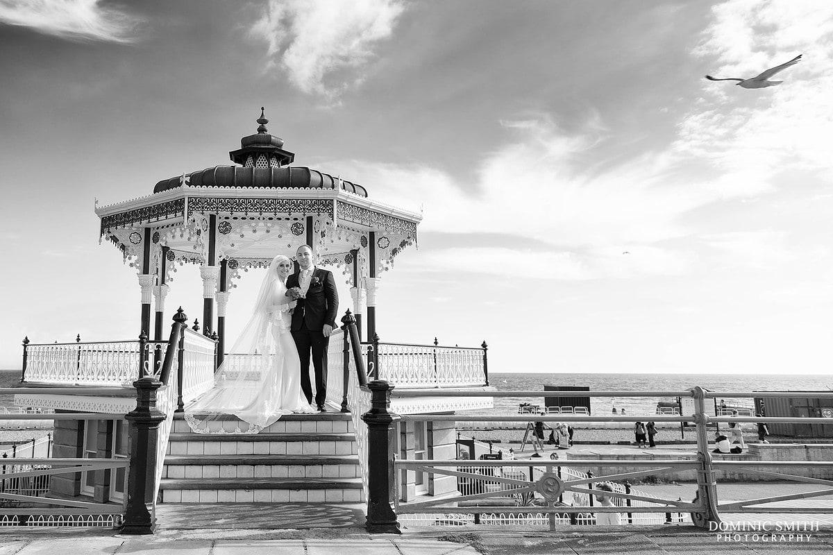 Brighton Bandstand Wedding Photo