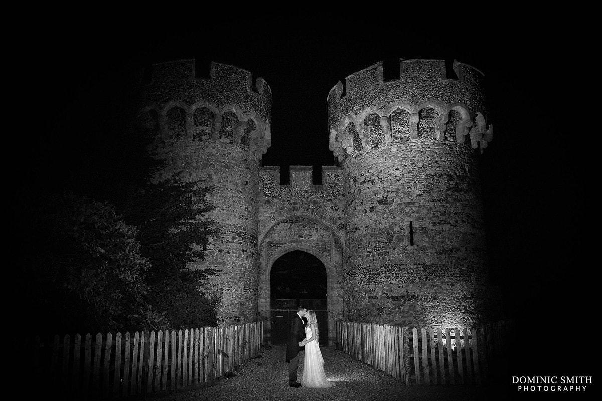 Cooling Castle Barn Wedding Night Photo