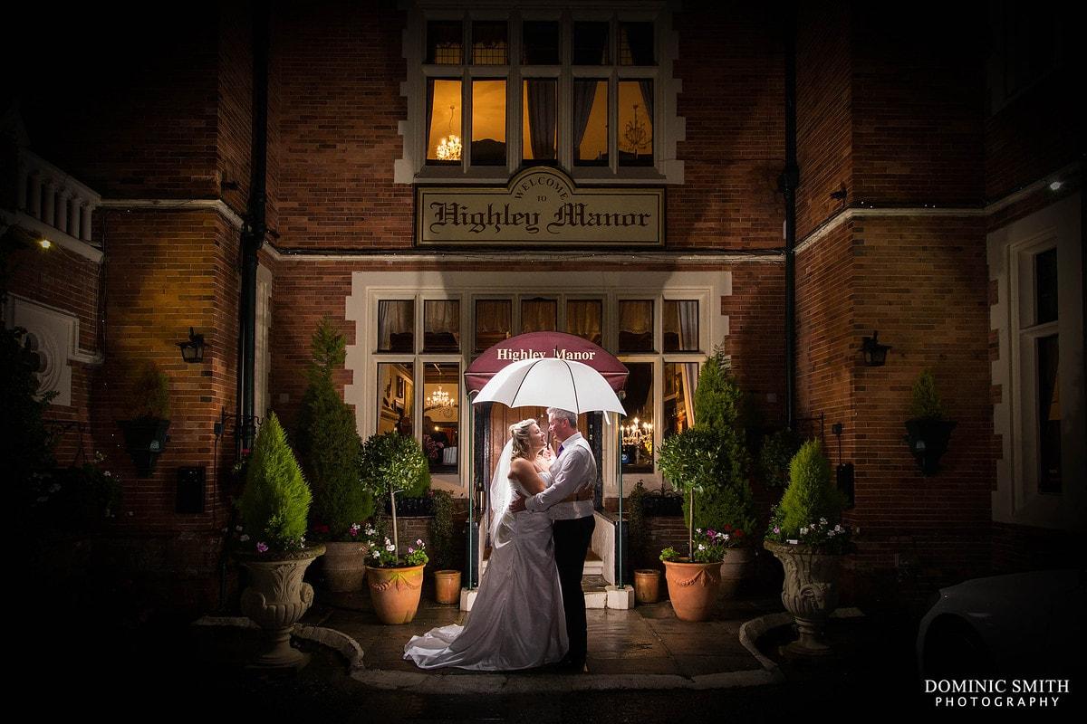 Highley Manor Wedding Night Photo