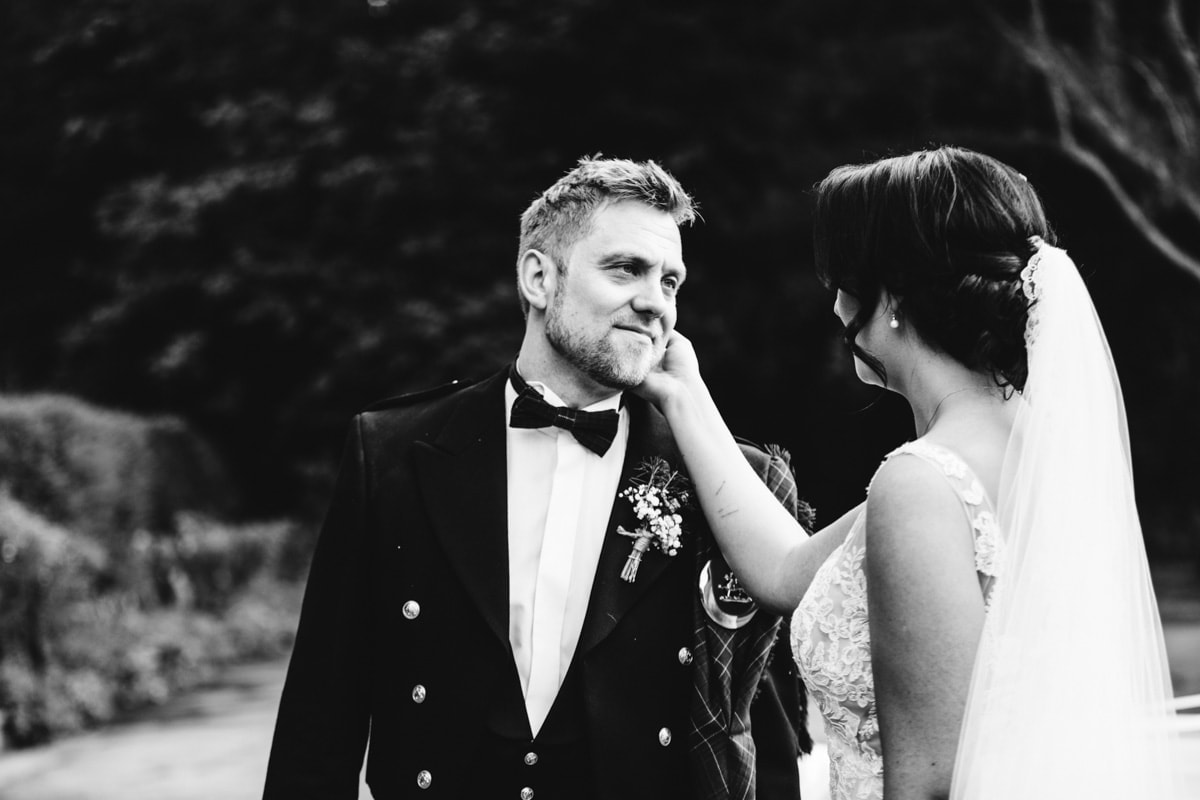 Stephen and Natalie at Rivington Barn being romantic