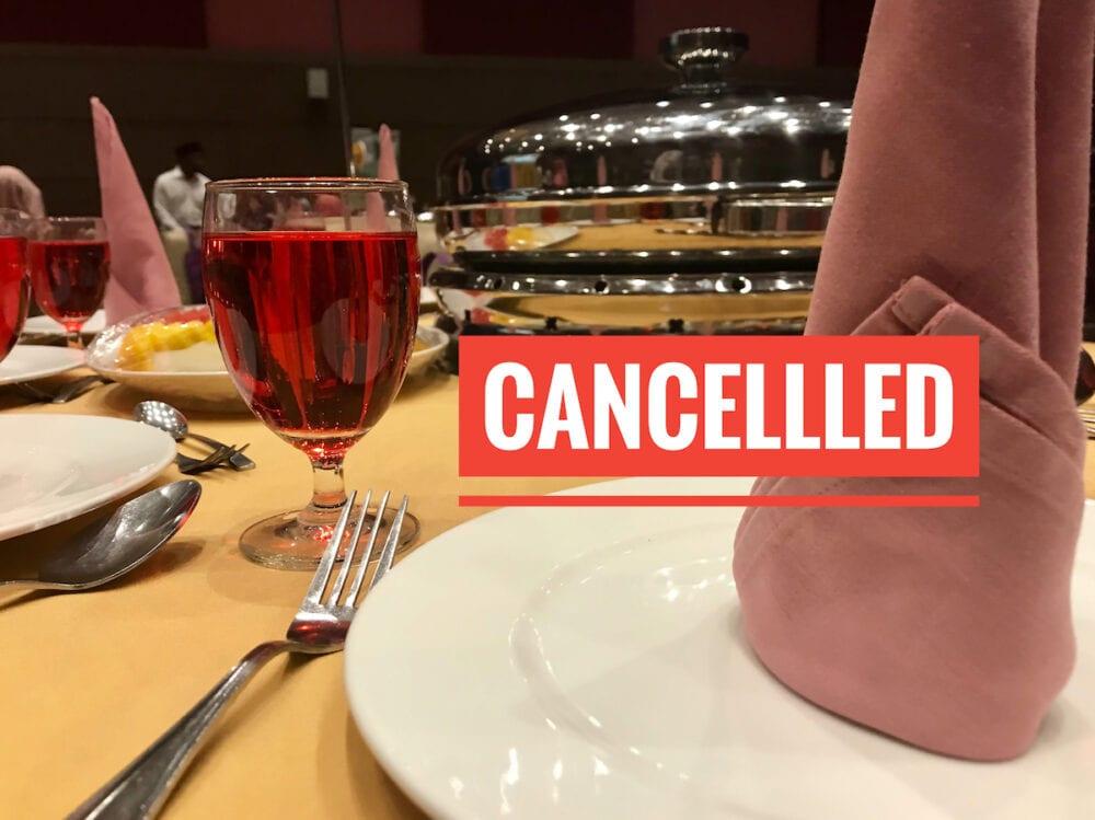 飲食店の前日キャンセル