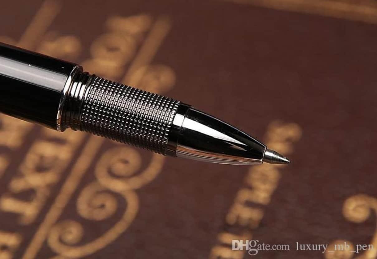 Best Cheap AliExpress MontBlanc Ball Point Pen Replica Clone Alternative Starwalker Blue Dome 2 Pen tip platinum-coated cap