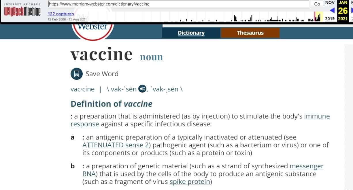 Merrian Webster - Vaccine definition - 2
