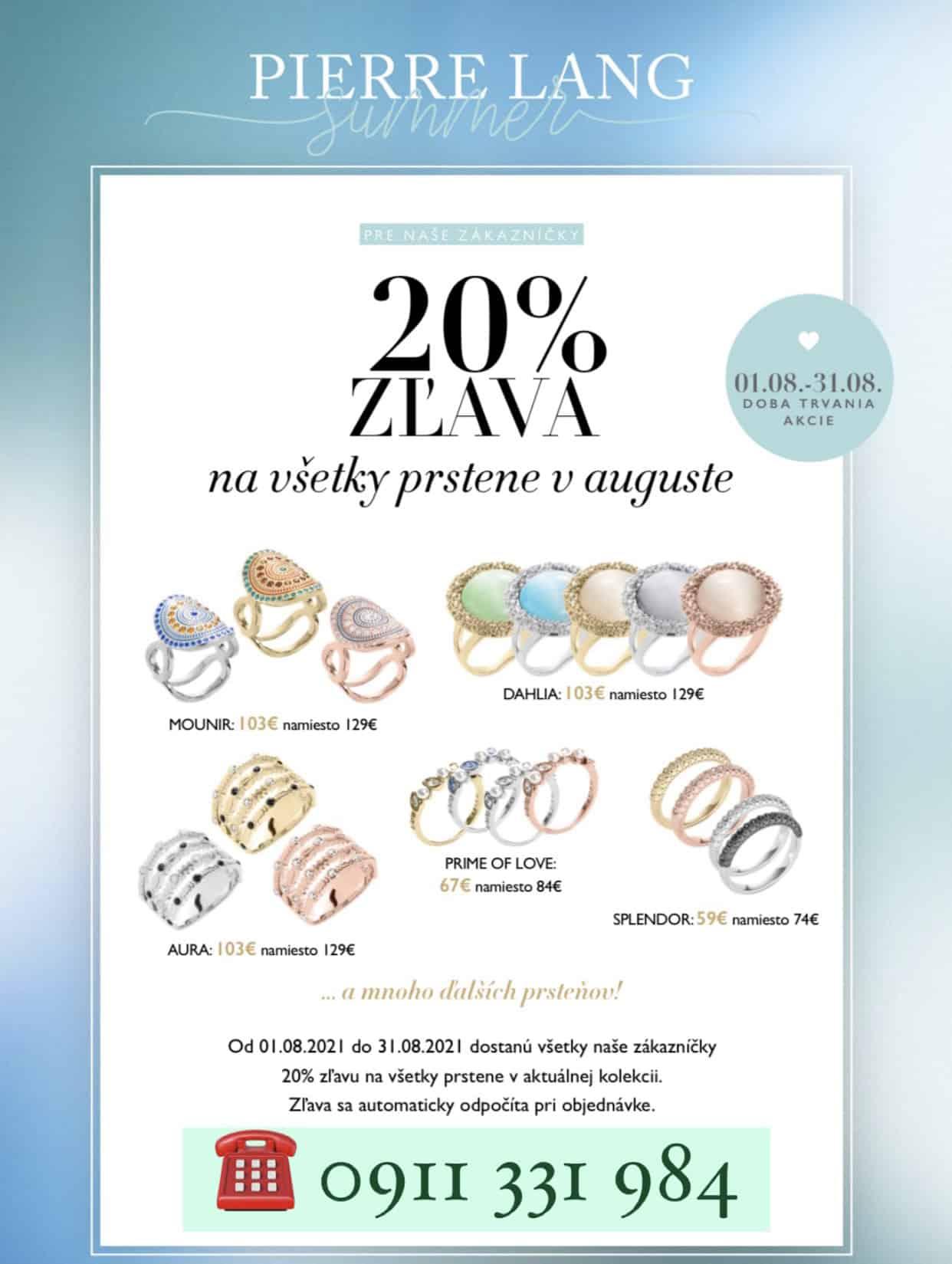 Zľava na prstene Pierre Lang 20% - Zuzana Nitra