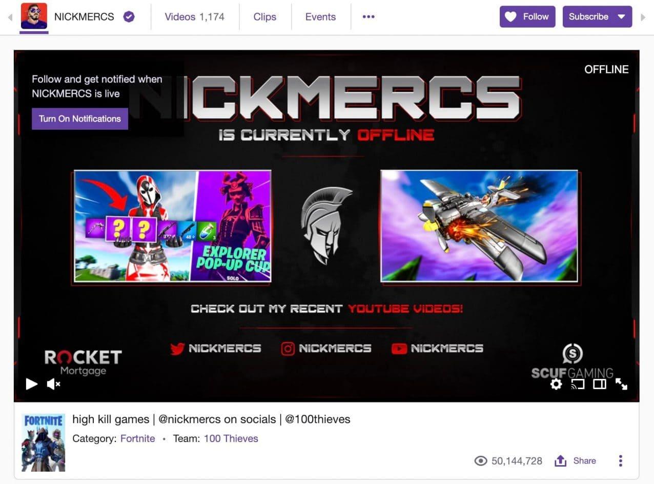 nickmercs twitch offline banner