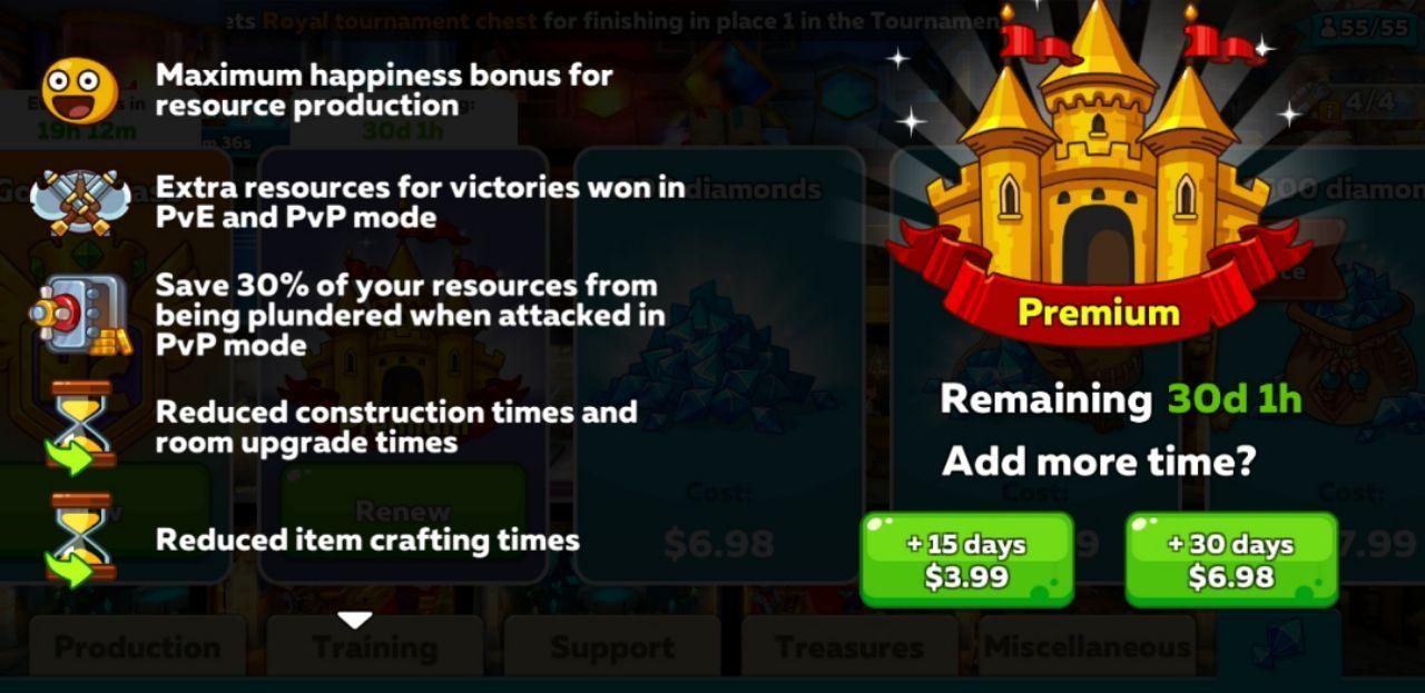 Hustle Castle Premium Subscription
