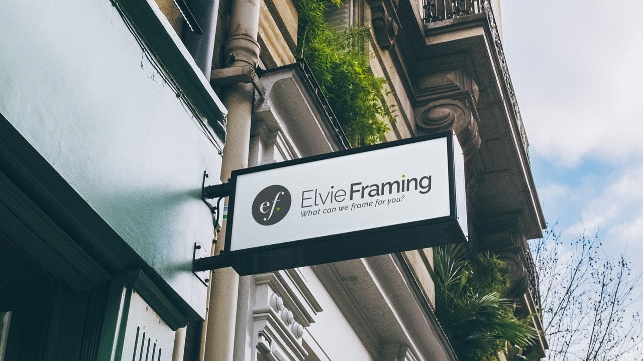 Elvie Framing Exterior Signage
