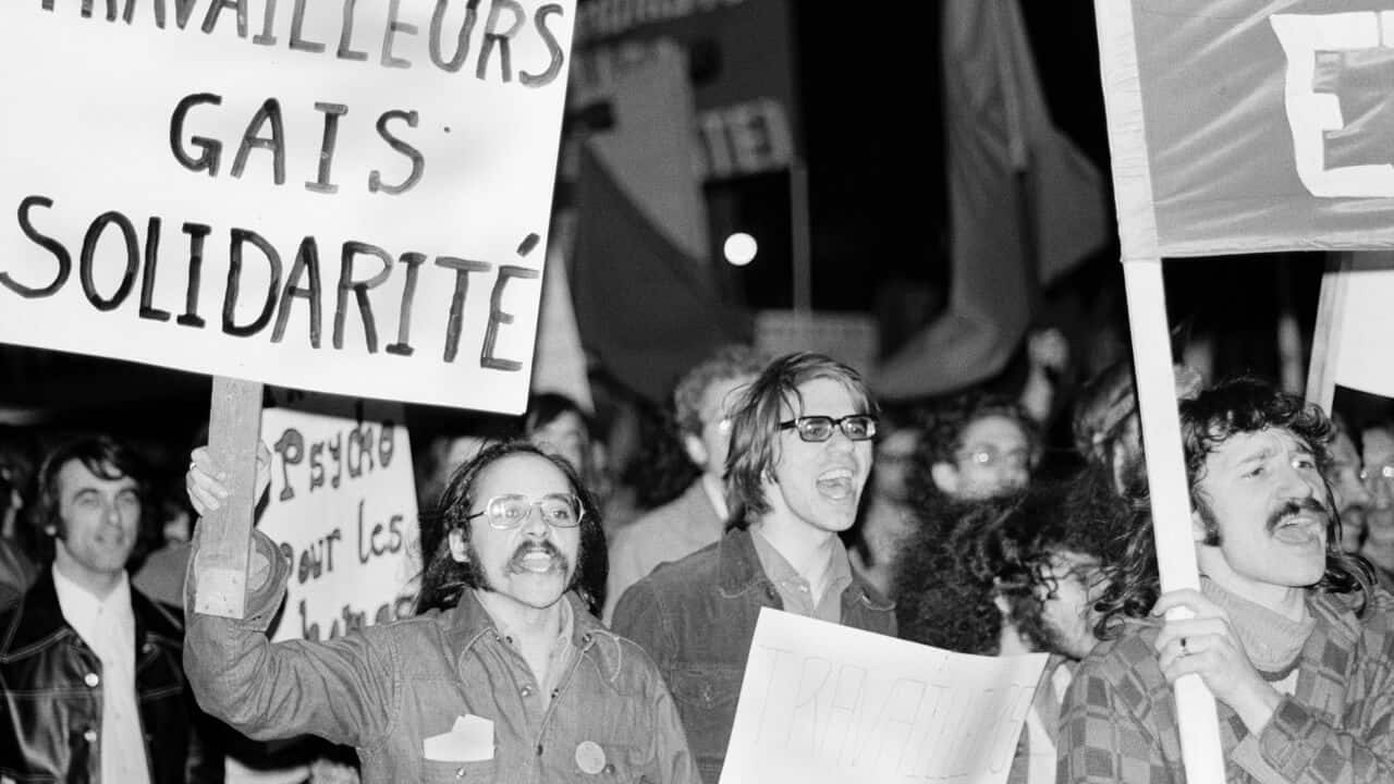 Early Pride march, Montreal, c.1972.