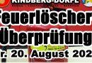 Feuerlöscher Überprüfung – 20.08.2021