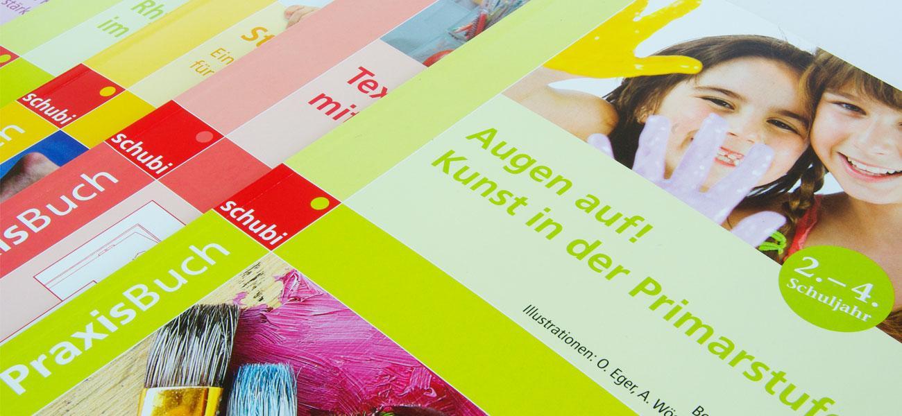 PraxisBuch_Corporate_Design_Artwork_Schubi_Lehrwerksreihe