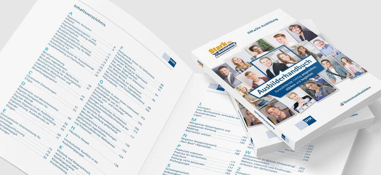 Kommunikationsdesign_DIHK_Ausbilderhandbuch_Inhaltsverzeichnis