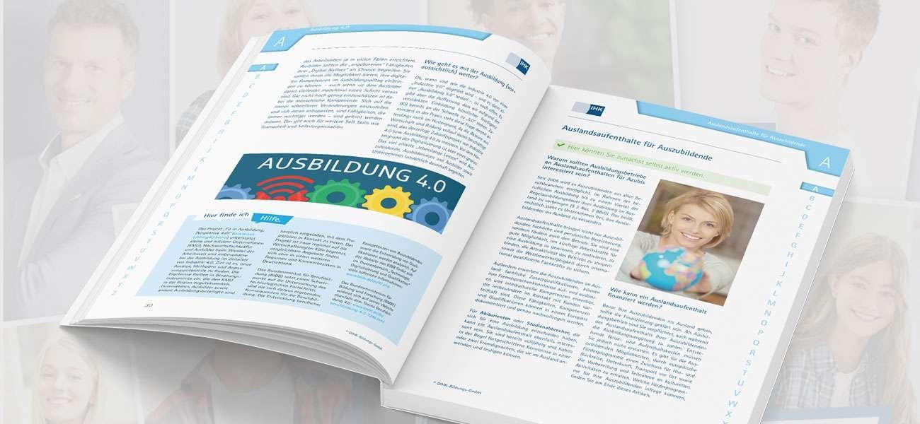 Kommunikationsdesign_DIHK_Ausbilderhandbuch_Layout_Doppelseite