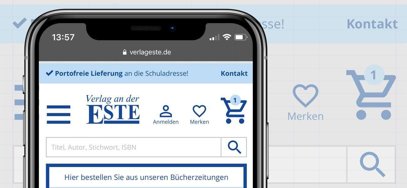 Interfacedesign_Este_Onlineshop_Header