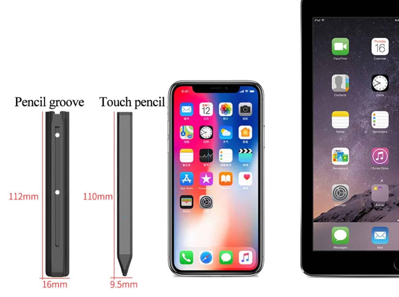 Top Best Fake Smart pen apple pencil replica Cheap alternative AliExpress Ipad pro Stylus Black 4 Pencil Case