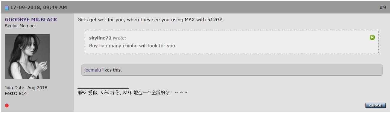 Goodbye Mr Black Hardwarezone Forums