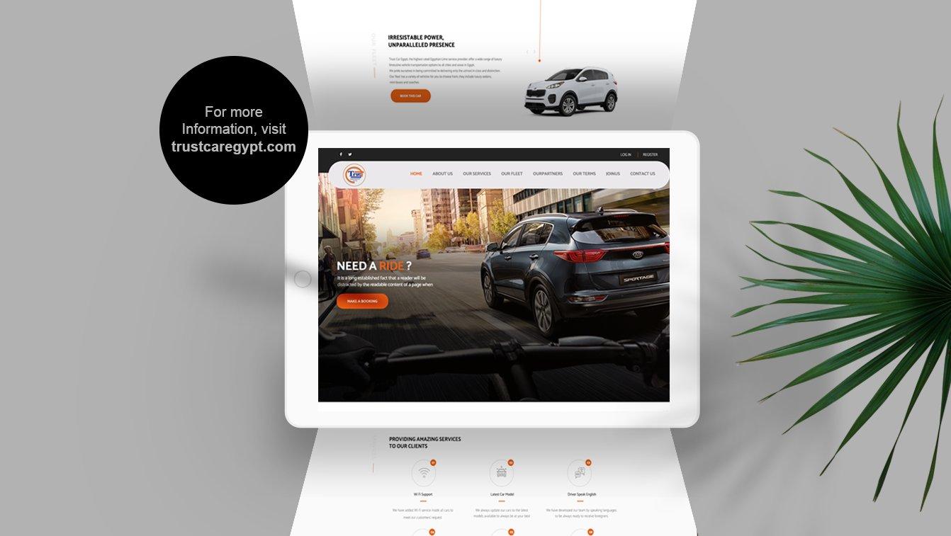 Alex Web Design and development company clients in Egypt Trust Car Company