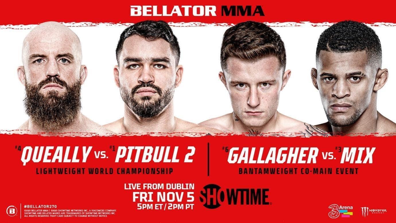 BELLATOR MMA 270 Queally vs. Pitbull 2 - MMA Fight Coverage