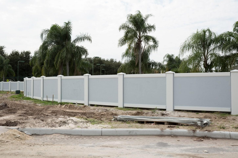 Permacast concrete fencing installation