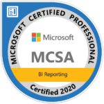 certified MCSA BI Reporting