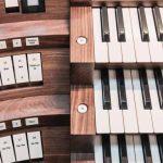 Orgel, Spieltisch, Tasten, Register