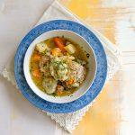 one pot, chicken stew, dumplings